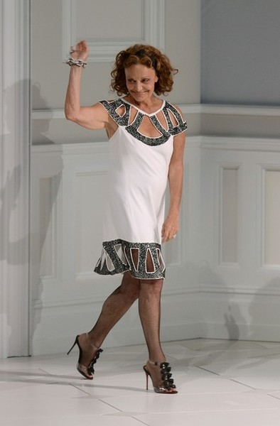 Designer Diane Von Furstenberg onstage at the 2013 CFDA Fashion Awards on June 3, 2013 in New York, United States. (Photo by Theo Wargo/Getty Images)