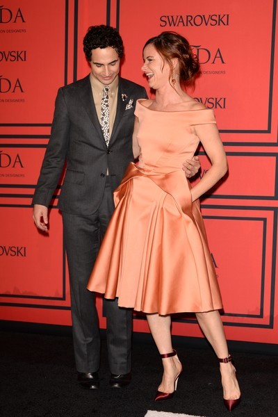 Designer Zac Posen (L) and Juliette Lewis attend 2013 CFDA Fashion Awards at Alice Tully Hall on June 3, 2013 in New York City. (Photo by Andrew H. Walker/Getty Images)