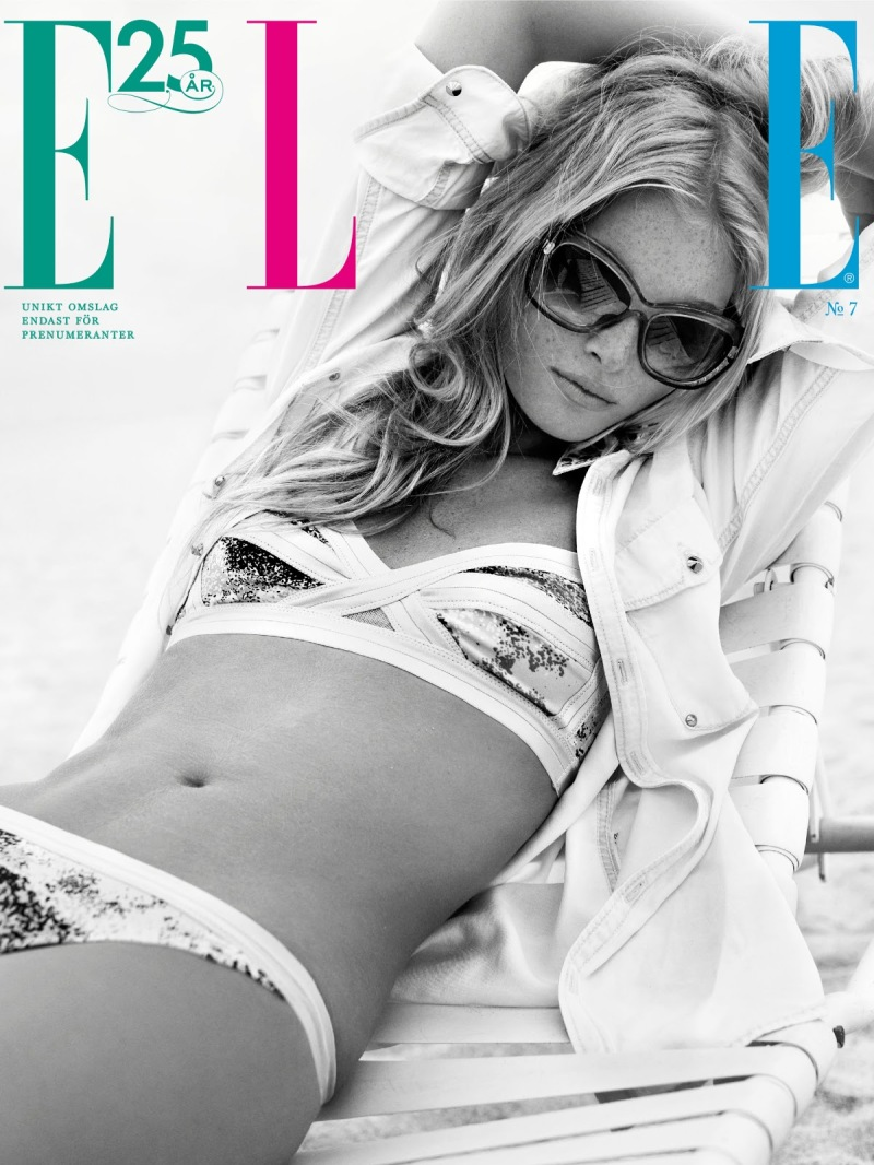 Elsa Hosk By Eric Josjo For Elle Sweden July 2013