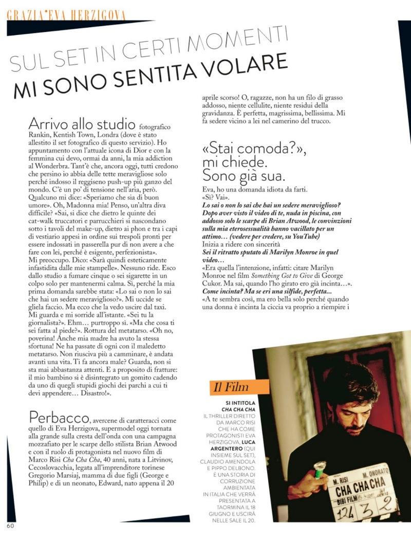 Eva Herzigova By Rankin For Grazia Italia 13Th June 2013
