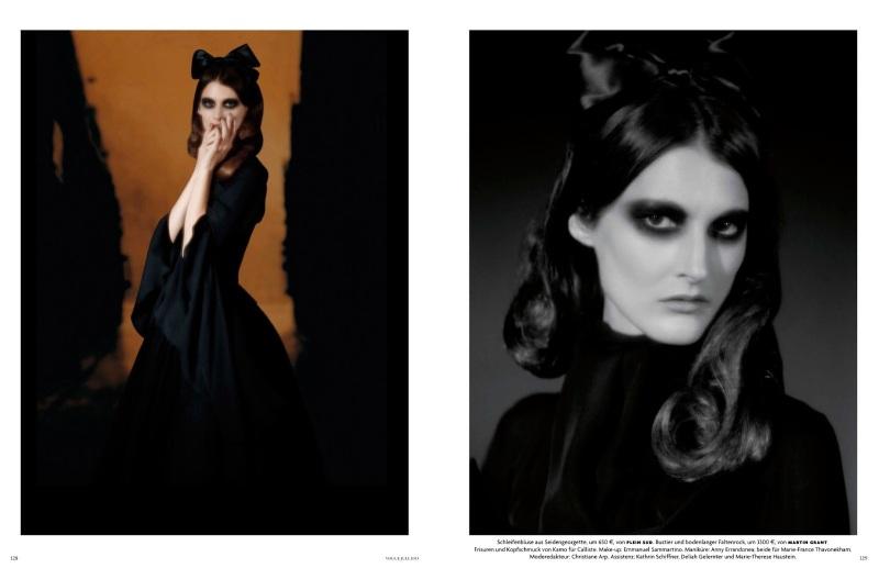 Jamie Bochert & Marie Piovesan by Karl Lagerfeld for Vogue Germany July 2013