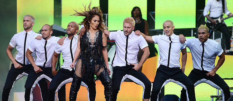Jennifer Lopez at The Sound Of Change Live photo by ian gavan/ getty image