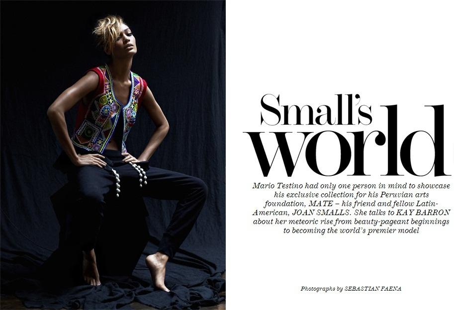 Joan Smalls by Sebastian Faena for The Edit