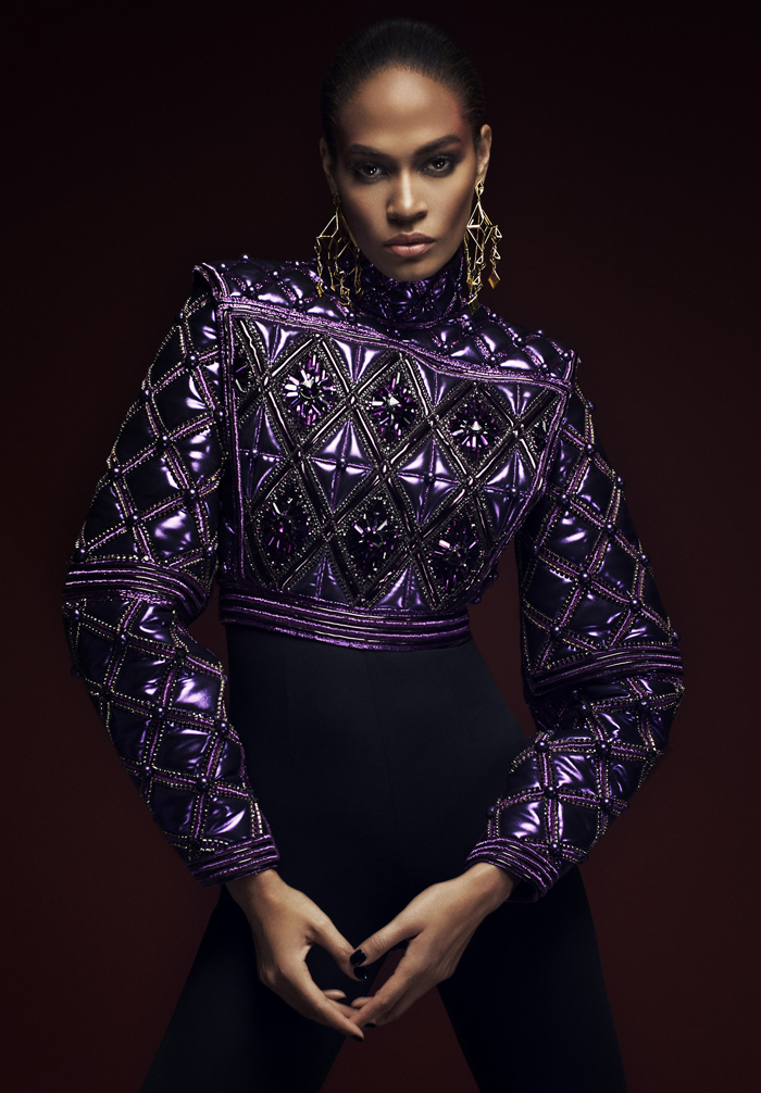 "Joan Smalls in ""Woman of Steel"" by Barnaby Roper"