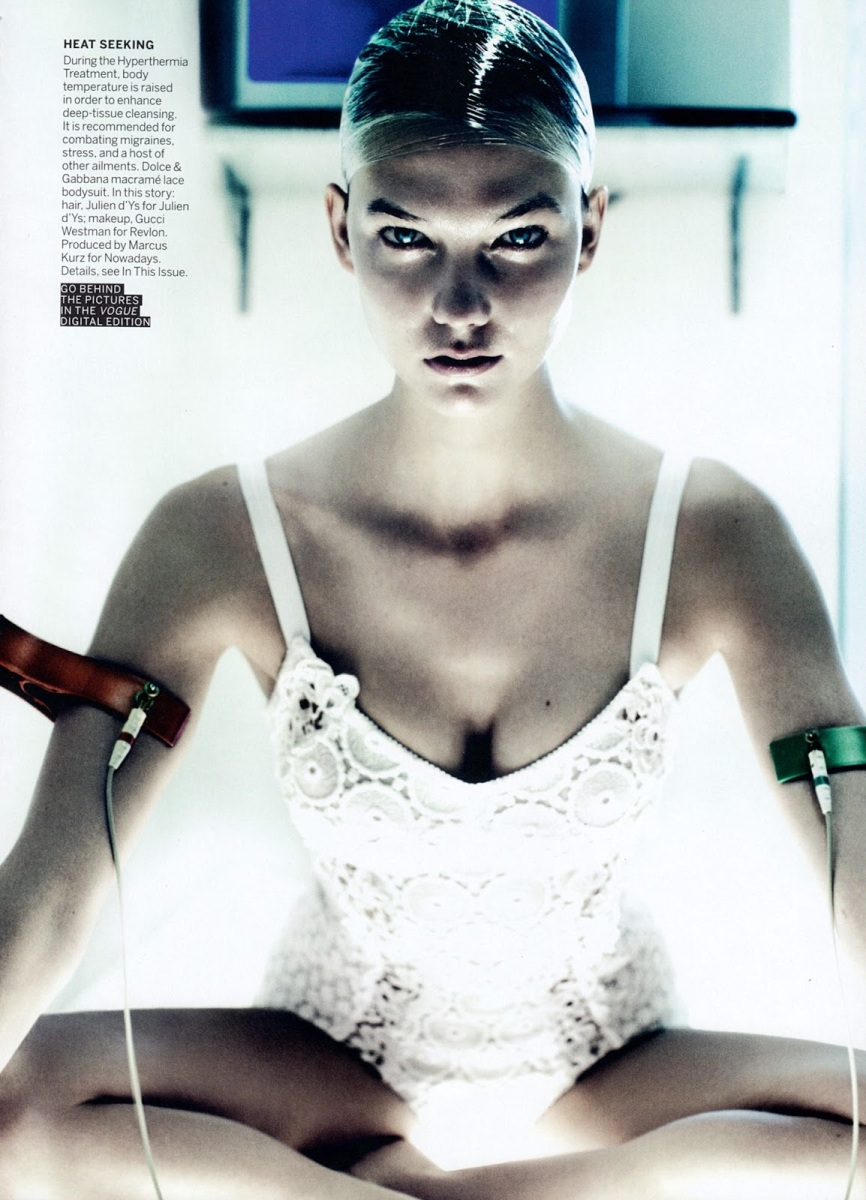 Karlie Kloss by Mario Testino for Vogue US July 2013