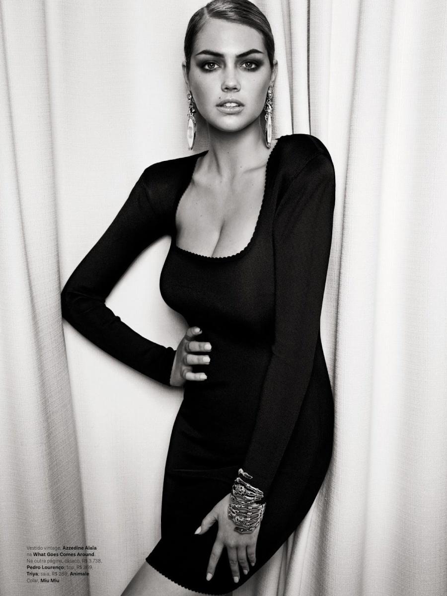 Kate Upton by Henrique Gendre for Vogue Brazil July 2013