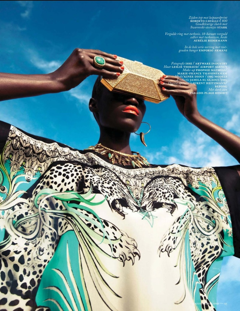 Kinee Diouf by Ishi for Vogue Netherlands July 2013