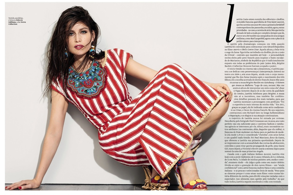 Laetitia Casta by Eric Guillemain for Vogue Brazil August 2013
