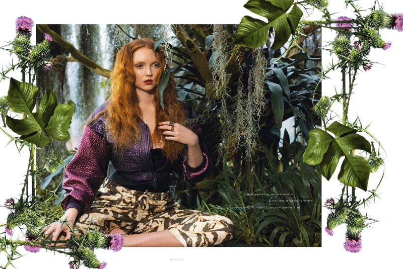 Lily Cole By Ami Sioux For InStyle UK July 2013