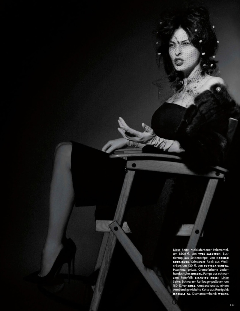 Linda Evangelista by Karl Lagerfeld for Vogue Germany July 2013