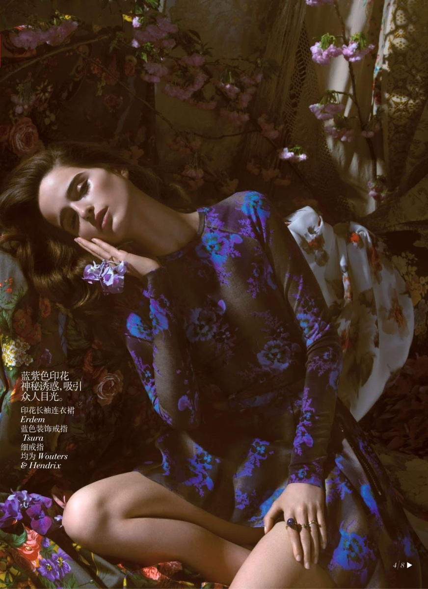 Loulou Robert by Camilla Akrans for Vogue China July 2013