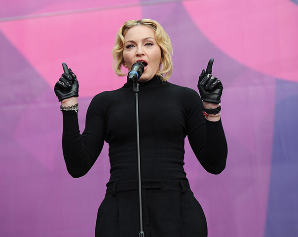 Madonna at The Sound Of Change Live photo by brian rasic / rex features