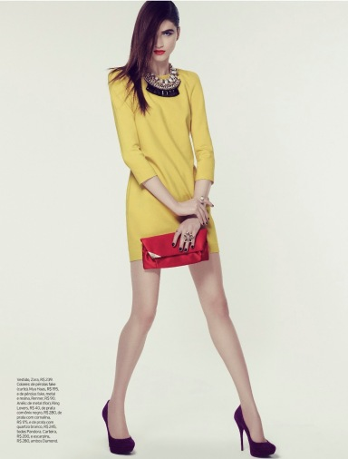 Marcele Dal Cortivo By Tiago Molinos For Elle Brazil May 2013