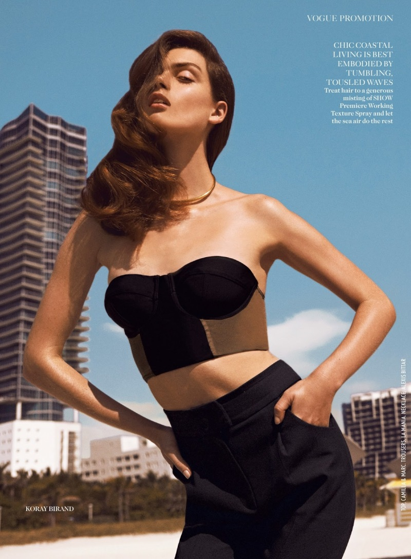 Maria Palm by Koray Birand for Vogue UK July 2013