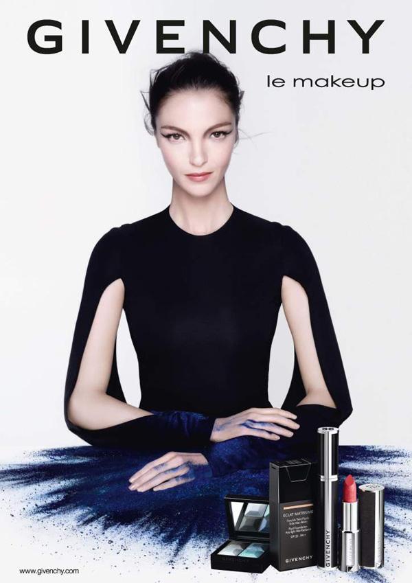 Mariacarla Boscono for Givenchy 'Le Makeup' Collection Ad Campaign