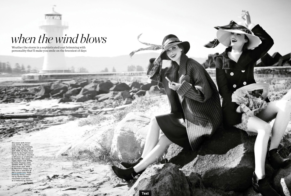Marie Claire Australia July 2013 : When The Wind Blows