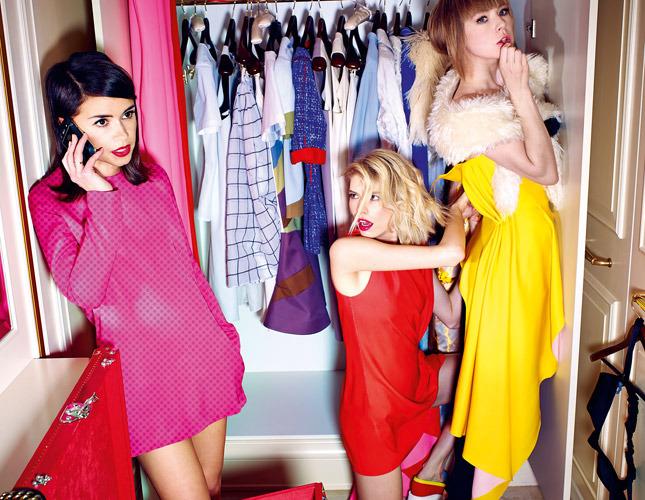 Miroslava Duma ,Elena Perminova, Vika Gasinskaya ,Natalia Goldenberg by Alexey Kolpakov for Vogue Russia