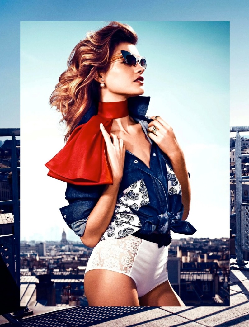 Natalia Vodianova By Vanmossevelde + N For Glamour France July 2013