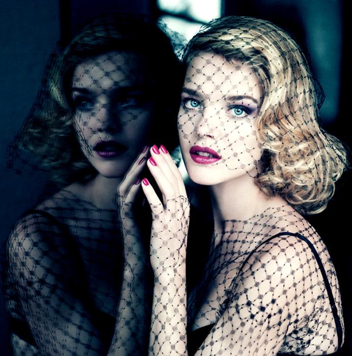 Natalia Vodianova for Guerlain Fall 2013 Makeup Collection- 'Voilette de Madame'