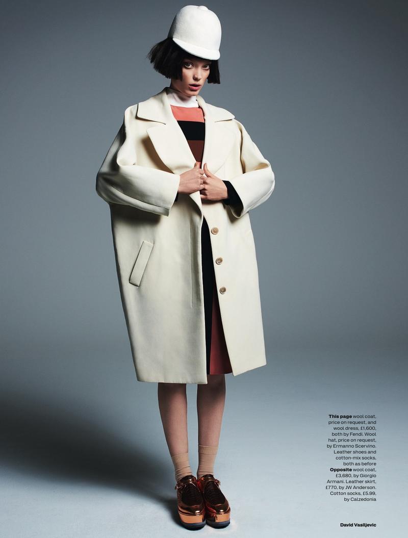 Naty Chabanenko by David Vasiljevic for Elle UK July 2013
