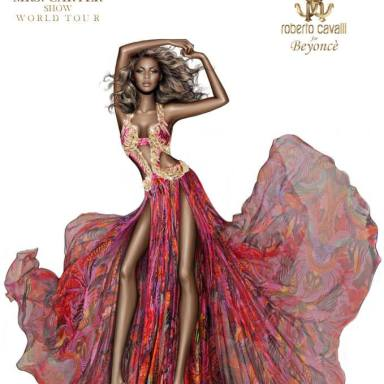 Roberto Cavalli sketch for Beyoncé Knowles