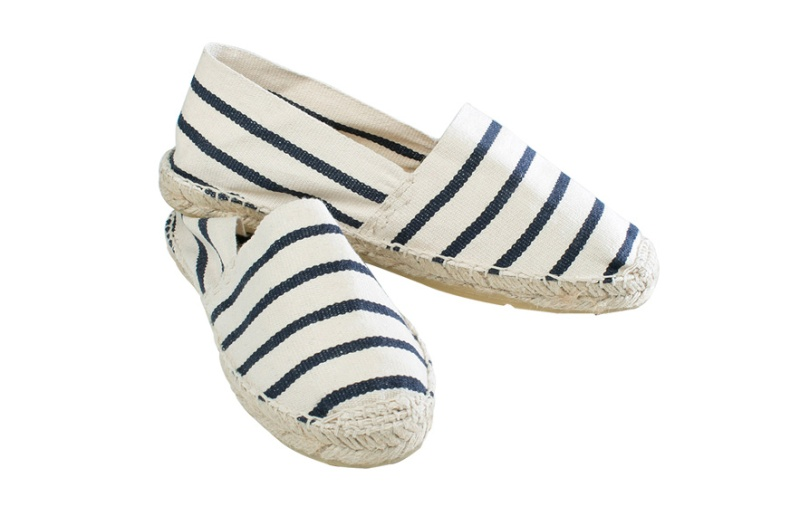St James  Striped canvas and rope espadrilles, €29