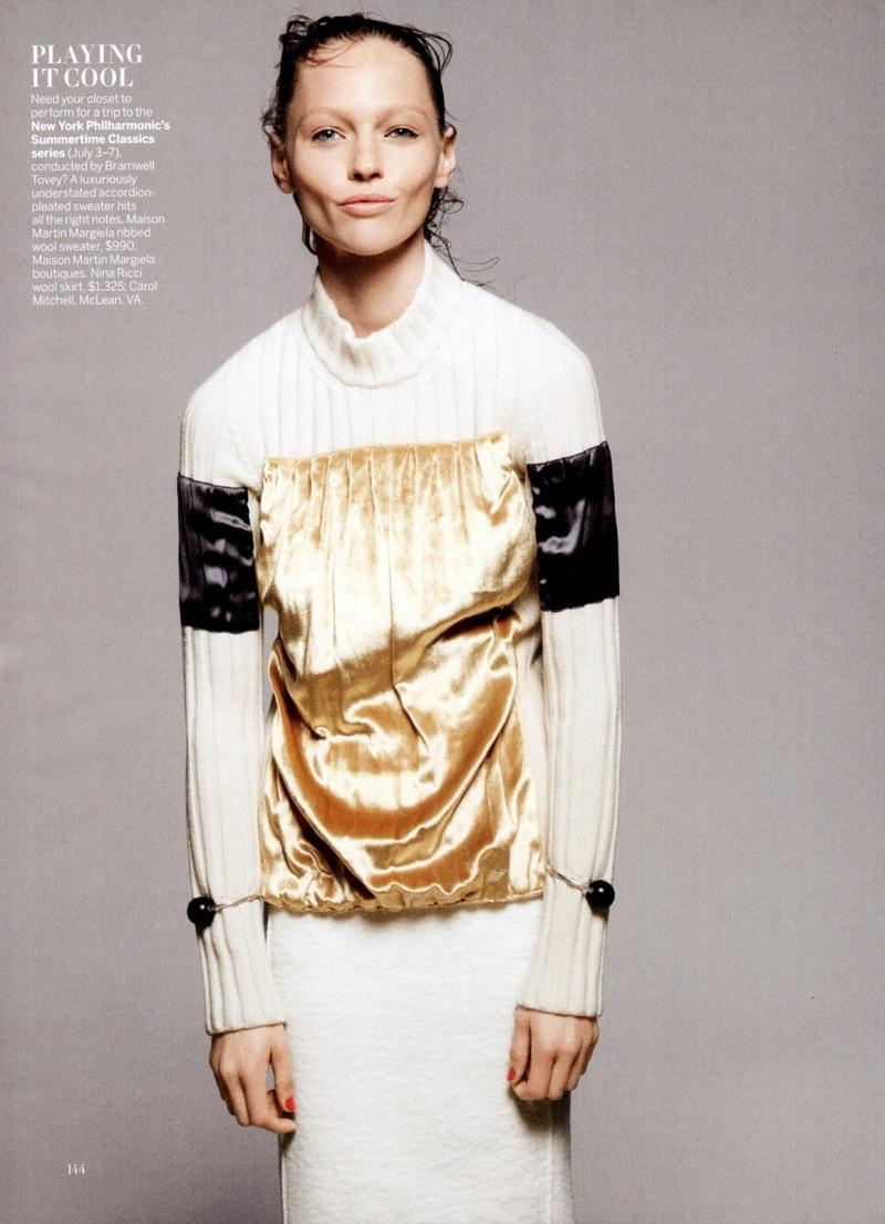Sasha Pivovarova by David Sims for Vogue US July 2013