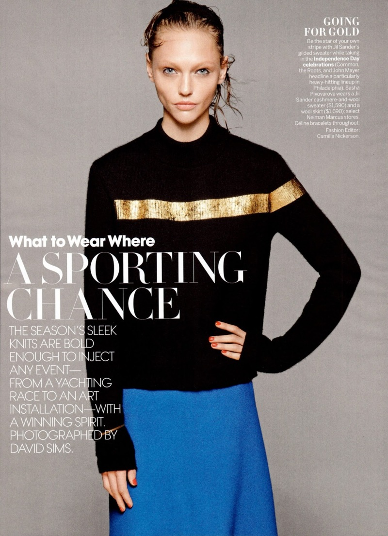 Sasha Pivovarova by David Sims for Vogue US July 2013Sasha Pivovarova by David Sims for Vogue US July 2013