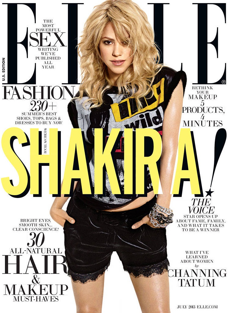 Shakira by Carter Smith for ELLE US July 2013
