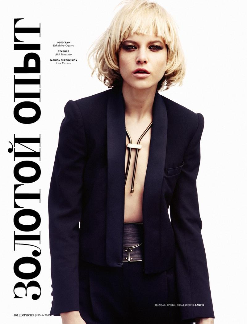 Tatiana Cotliar by Takahiro Ogawa for L'Officiel Ukraine June 2013