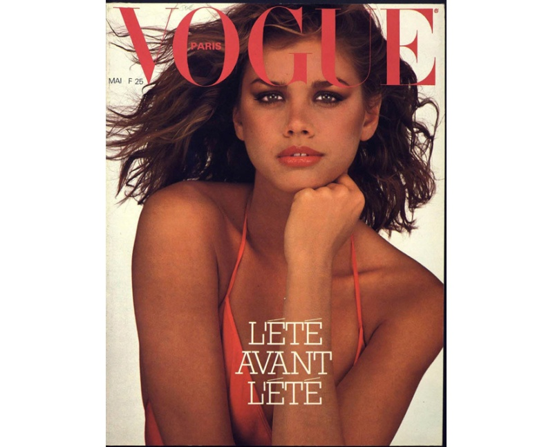 The cover of Vogue Paris May 1979 issue photographed by Mike Reinhardt