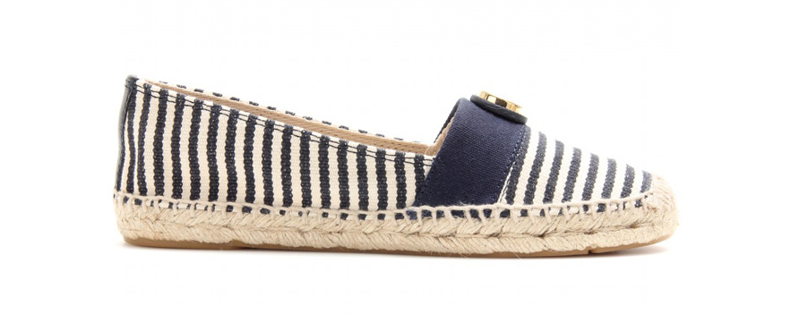Tory Burch Striped cotton and rope Beacher espadrilles, €115