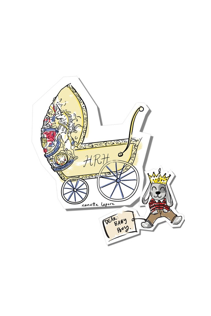 """A """"baby carriage for HRH"""" by Nanette Lepore."""