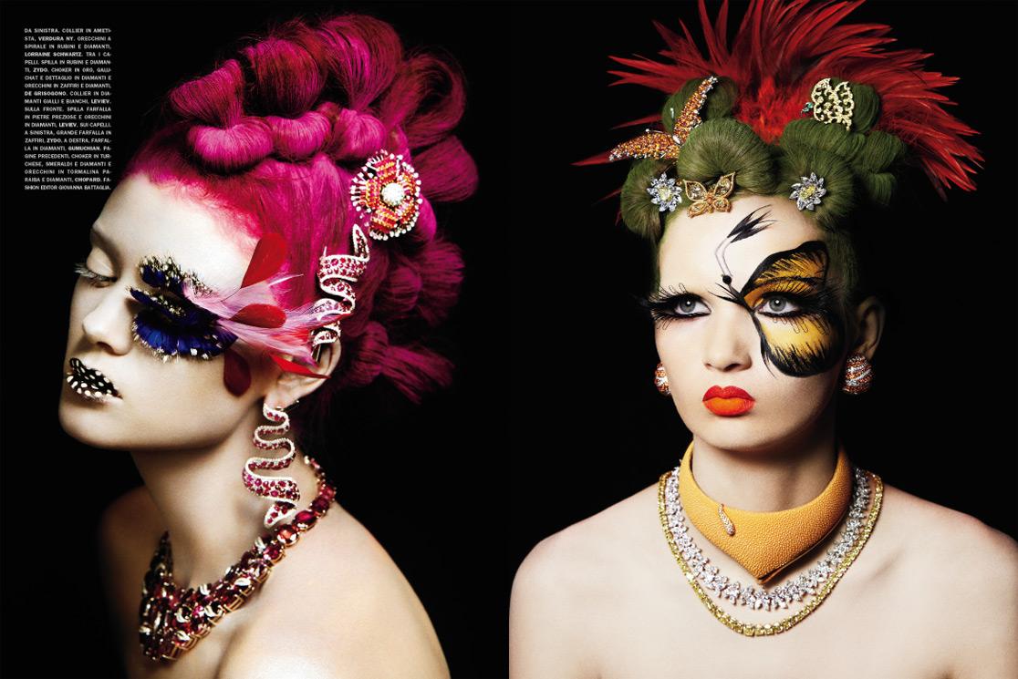A Precious Make-Up by Francesco Carrozzini for Vogue Gioiello March 2010