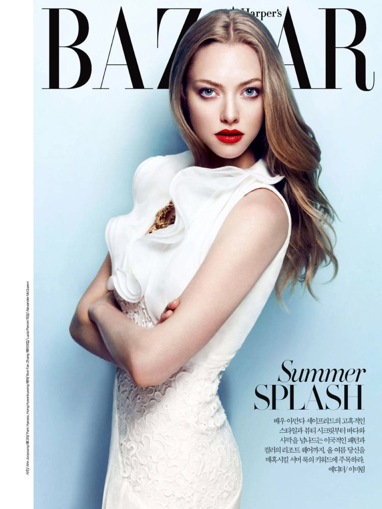 Amanda Seyfried by Ahn Jooyoung for Harper's Bazaar Korea July 2013
