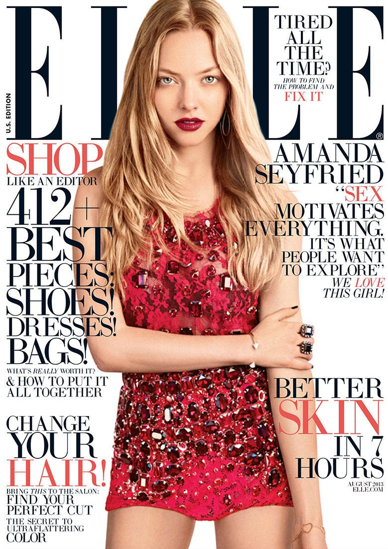 Amanda Seyfried by Carter Smith for ELLE US August 2013