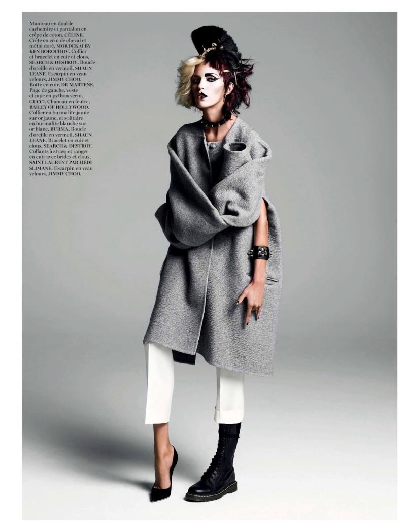 Anja Rubik By Inez & Vinoodh For Vogue Paris August 2013