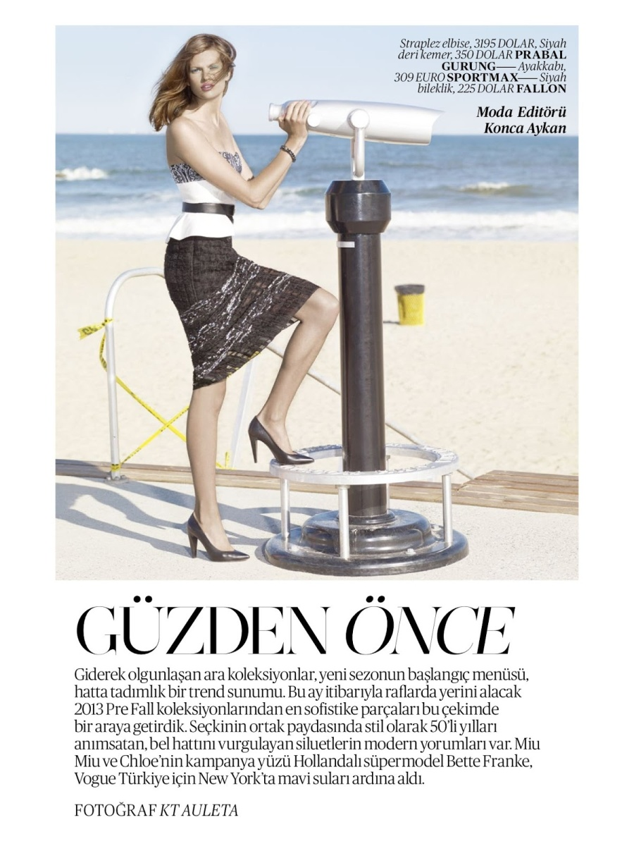 Bette Franke by KT Auleta for Vogue Turkey July 2013