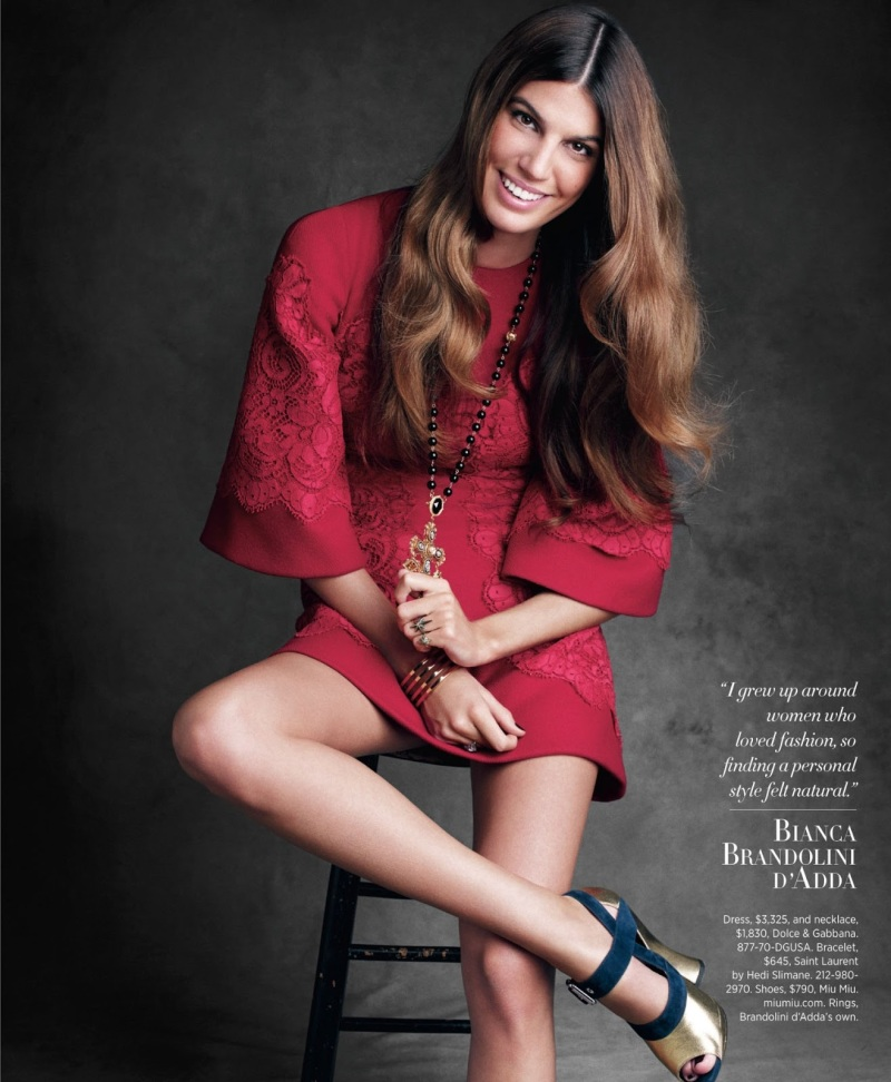Bianca Bandolini D'Adda by Victor Demarchelier for Harper's Bazaar US August 2013