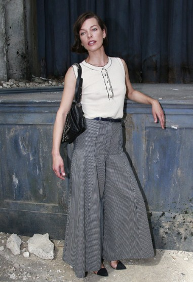 Celebrities at Paris Haute Couture Week Fall 2013 Milla Jovovich at Chanel