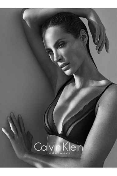 Christy Turlington by Mario Sorrenti for Calvin Klein Underwear Fall 2013