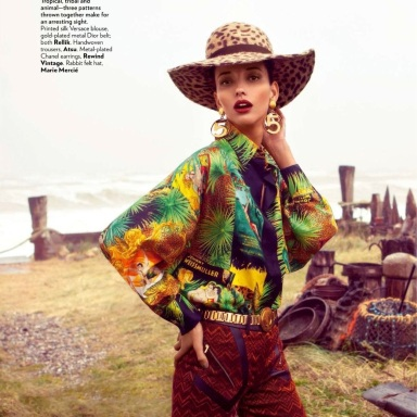 Daniela Alves By Grant Thomas For Vogue India July 2013