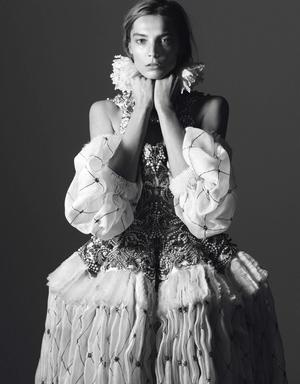 Daria Werbowy by David Sims for Vogue Paris August 2013