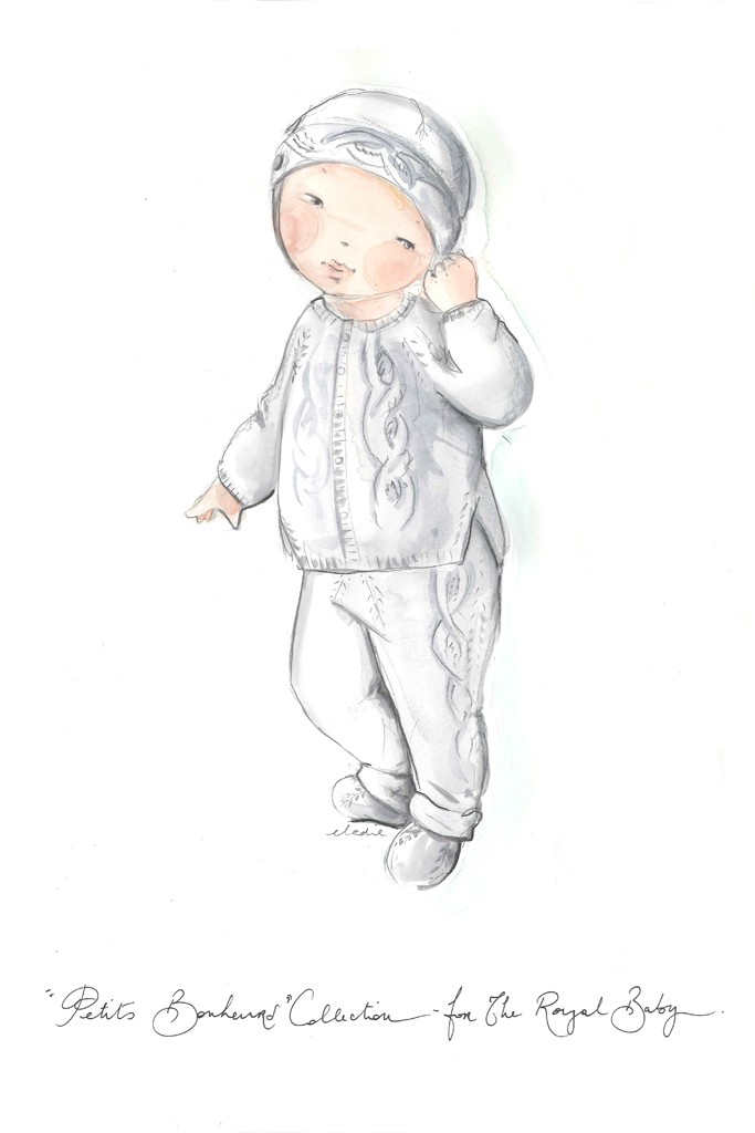 "Dior's Petits Bonheurs Collection made for the royal baby- ""Dior wishes a happy life to the future Prince of Cambridge"""