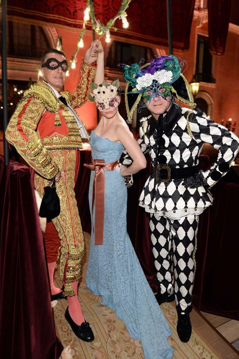 Domenico Dolce, Stefano Gabbana and Rose McGowan