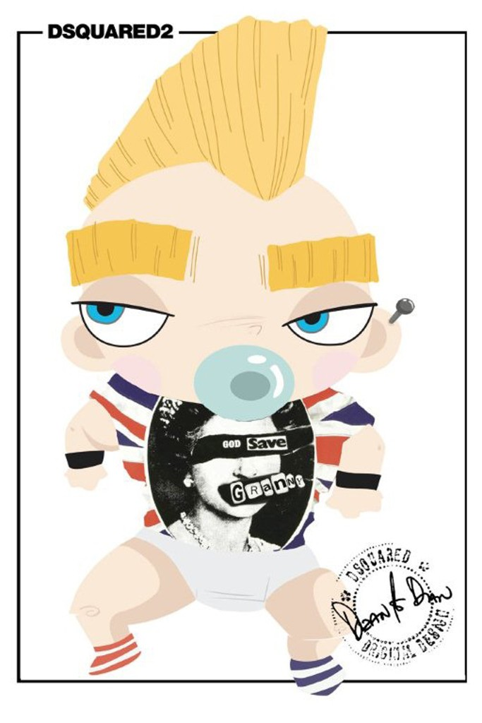 DSquared2's royal punk baby.