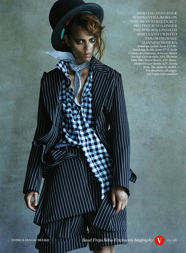 Freja Beha Erichsen By Patrick Demarchelier For Vogue UK August 2013
