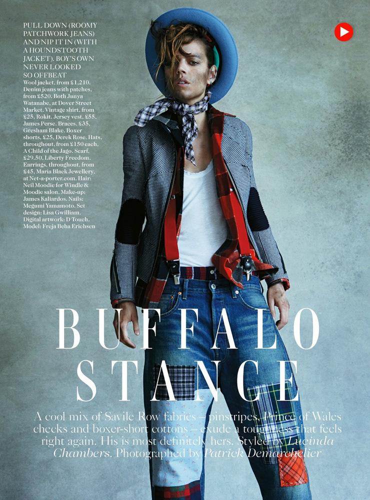 Freja Beha Erichsen By Patrick Demarchelier For Vogue UK August 2013