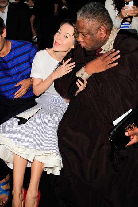 Ulyana Sergeenko and André Leon Talley