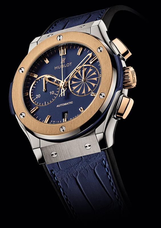 Hublot Mykonos 2013 Classic Fusion Chronograph Watch Titanium Gold